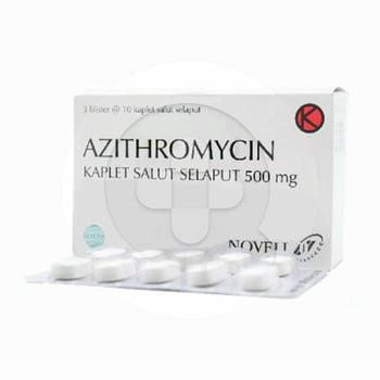 Azithromycin Novell Kaplet 500 mg  harga terbaik 441373