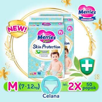 Merries Skin Protection Popok Bayi Celana M 50  harga terbaik 265800
