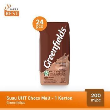 Greenfields Susu UHT Choco Malt 200 ml - 24 Pcs harga terbaik