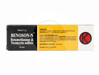 Benoson N krim adalah obat untuk mengatasi peradangan kulit dan infeksi bakteri