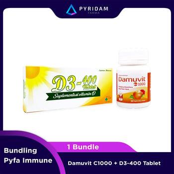 PYFA IMMUNE Bundle - Damuvit C-1000 x D3-400 harga terbaik 180000