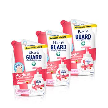 Biore Hand Soap Fruity Antiseptic Pouch 250 ml - Triple Pack harga terbaik 44700