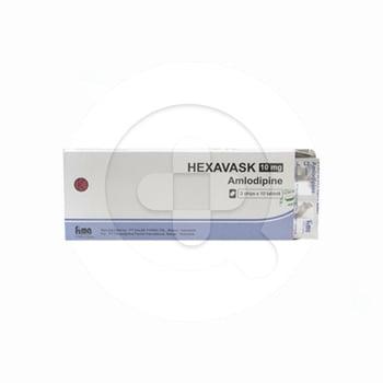 Hexavask Tablet adalah obat untuk tekanan darah tinggi, rasa nyeri pada dada kronis, dan kejang.