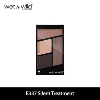 Wet N Wild Color Icon Eyeshadow Quads E337 Silent Treatment harga terbaik 109000