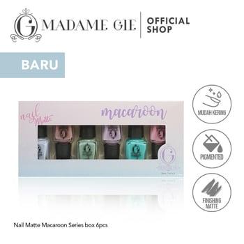 Madame Gie Nail Matte Macaroon 1 set  harga terbaik 36100