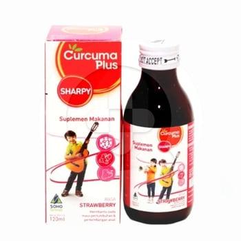 Curcuma Plus Sharpy Rasa Strawberry Sirup 120 mL harga terbaik 16013