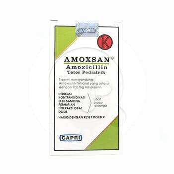 Amoxsan Drops 15 ml digunakan untuk infeksi saluran pernafasan, infeksi saluran urogenital dan infeksi pada kulit dan jaringan lunak.
