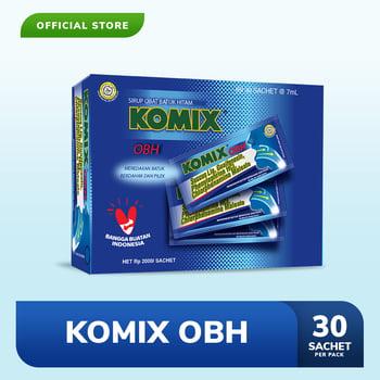 Komix OBH digunakan untuk meredakan batuk berdahak yang disertai pilek atau hidung tersumbat