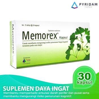 Memorex Kapsul (5 Strip @ 6 Kapsul) - Suplemen Daya Ingat