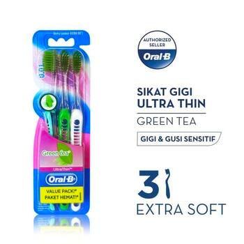 Oral-B Sikat Gigi Ultrathin Green Tea 3s harga terbaik 49200