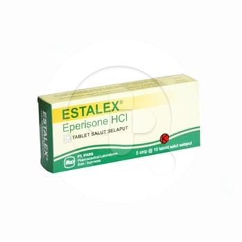 Estalex tablet adalah obat untuk mengatasi gejala kejang otot atau spasme muskuloskeletal