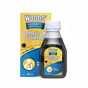 Woods Peppermint Expectorant Sirup 60 ml harga terbaik 16974