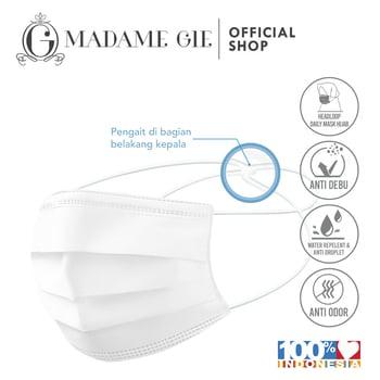 Madame Gie Daily Care Face Mask Masker Anti Droplet Hijab 5 Pcs