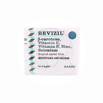 Bevizil kaplet berguna untuk meningkatkan daya tahan tubuh dan mencegah paparan radikal bebas