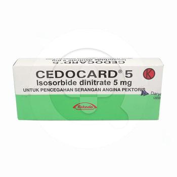 Cedocard tablet adalah obat untuk mencegah nyeri dada pada pasien penderita penyakit arteri koroner