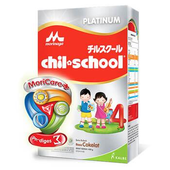 Morinaga Chil School Platinum Moricare+ Chocolate 400 g harga terbaik 112000