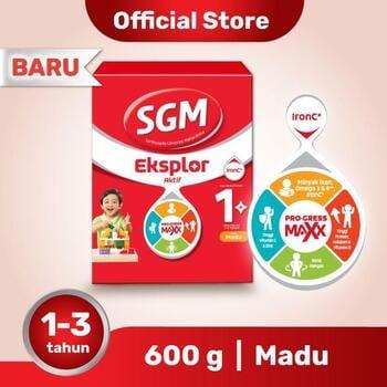 SGM Eksplor 1 Plus Susu Pertumbuhan 1-3 Tahun Madu 600 g harga terbaik