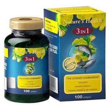 Nature's Health Squalene + Omega + EPO 3in1  harga terbaik