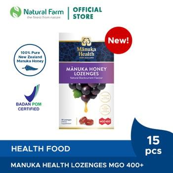 Manuka Health MGO 400+ With Blackcurrant Lozenges harga terbaik