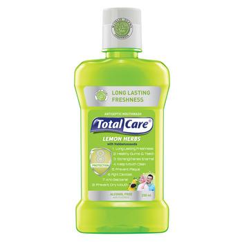 Total Care Anti Bacterial Mouthwash Lemon Herb 250 ml harga terbaik