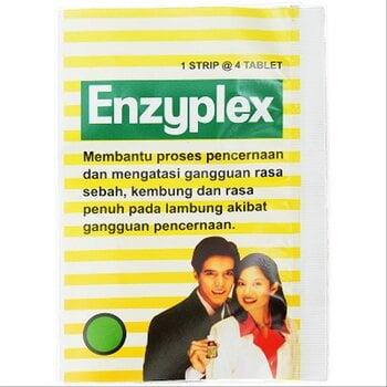 Enzyplex tablet adalah obat yang digunakan untuk mencegah dan mengatasi gangguan saluran pencernaan