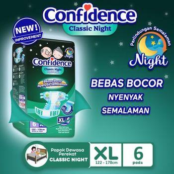 Confidence Popok Dewasa Classic Night XL 6 harga terbaik 46000
