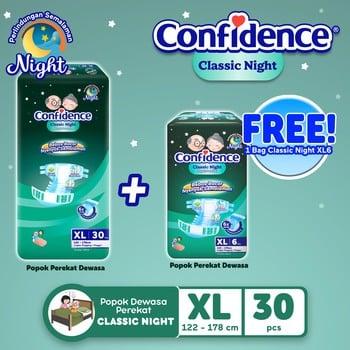 Confidence Popok Dewasa Classic Night XL 30 FREE Classic Night XL 6 harga terbaik
