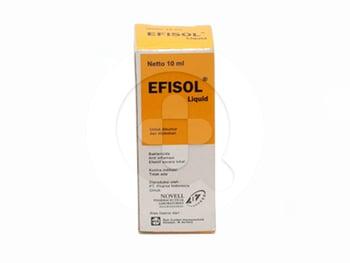 Efisol tetes berguna untuk meredakan luka di gusi atau rongga mulut dan menghilangkan bau mulut
