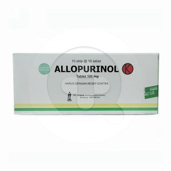 Allopurinol Triman 100 mg  harga terbaik