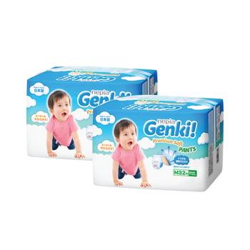 Nepia Genki Premium Soft Pants M 32 - Twinpack harga terbaik 291668