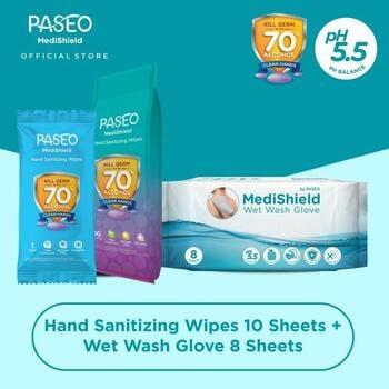 Paseo Medishield Hand Sanitizing Wipes  harga terbaik 36500