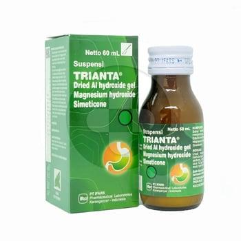 Trianta suspensi adalah obat untuk mengurangi gejala akibat kelebihan asam lambung