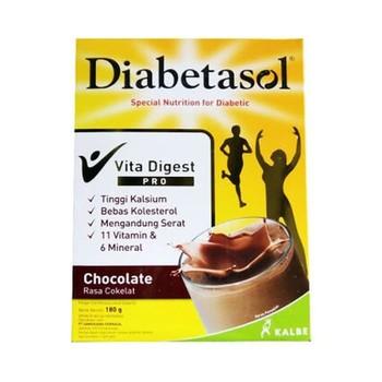 Diabetasol Vita Digest Pro Susu Rasa Coklat 185 g harga terbaik