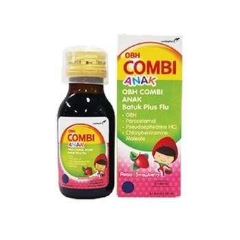 OBH Combi Anak Batuk Plus Flu Rasa Strawberry Sirup 60 mL harga terbaik 14216