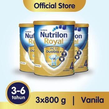 Susu Nutrilon Royal 4 Susu Pertumbuhan 3-6 Tahun Vanila 800 g