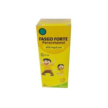 Fasgo forte sirup berfungsi untuk menurunkan demam dan meredakan nyeri pada anak
