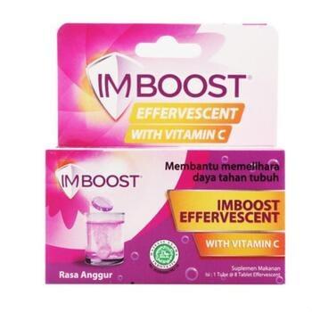Imboost Effervescent Rasa Anggur adalah obat untuk membantu memelihara daya tahan tubuh.