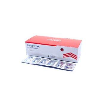 Super tetra kapsul 250 mg untuk mengatasi infeksi karena organisme yang sensitif pada tetrasiklin.