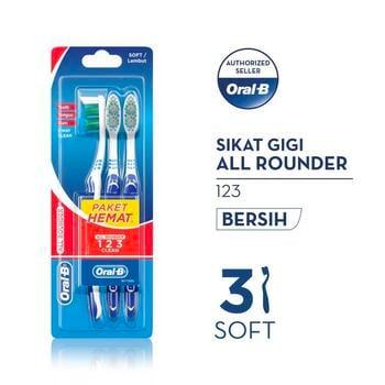 Oral-B Sikat Gigi All Rounder 123 Soft 3s harga terbaik 14000