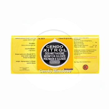 Cendo Xitrol minidose adalah obat untuk mengobati peradangan mata akibat infeksi bakteri
