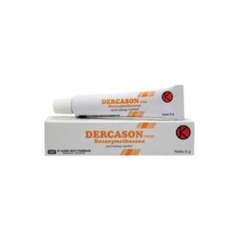 Dercason krim adalah obat untuk mengatasi peradangan dan gatal pada kulit.