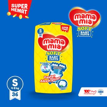 Mamamia Soft Popok bayi Tipe celana S 36+4 harga terbaik 42300