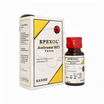 Epexol drop digunakan untuk mengobati penyakit saluran pernafasan akut dan kronis.