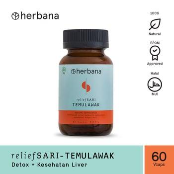 Herbana Relief Sari Temulawak - 60 Kapsul harga terbaik 194250