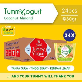 Heavenly Blush Tummy Yogurt Stirred Coconut Almond 80 g  harga terbaik 300000