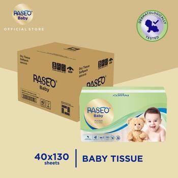 Paseo Baby Tissue Bayi Soft Pack 130 Sheets x 40 Pcs  harga terbaik 680460