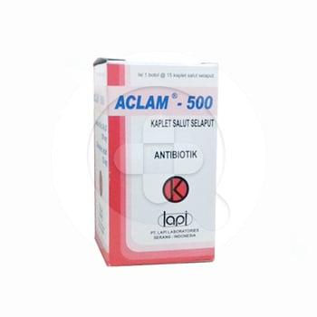 Aclam kaplet digunakan untuk mengatasi infeksi saluran napas atas dan bawah, infeksi saluran kemih, infeksi kulit dan jaringan lunak serta infeksi lainnya