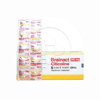 Brainact 500 mg 1 strip 10 Tablet