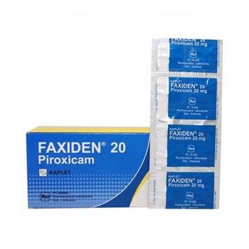 Faxiden kaplet adalah obat yang digunakan untuk mengatasi peradangan pada sendi