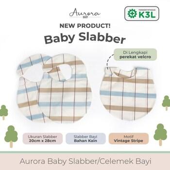Aurora Baby Slaber/Celemek Bayi - Vintage Stripe harga terbaik 39999